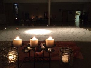 Labyrinth with Candles January 2019